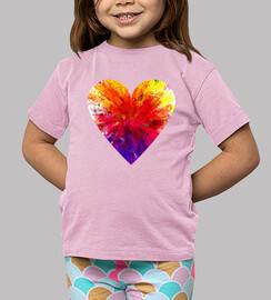 Camiseta Corazon de color