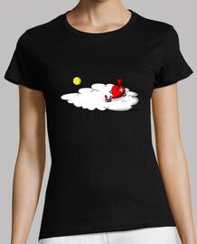 Camiseta corazón en las nubes