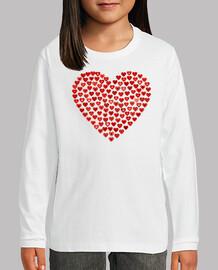 Camiseta Corazones M/L