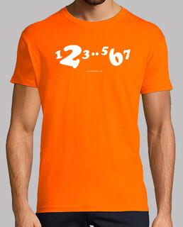 camiseta corta 1,2,3..5,6,7 blanco