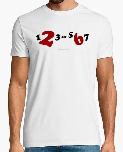 Camiseta corta 1,2,3..5,6,7 color