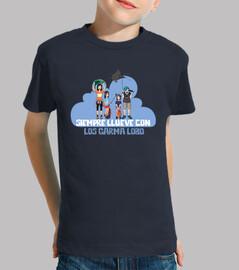 Camiseta Corta Siempre Llueve con los Garma Lobo