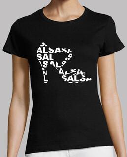 camiseta corta zapato de baile con salsa