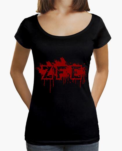 Camiseta corte largo mujer ZFE
