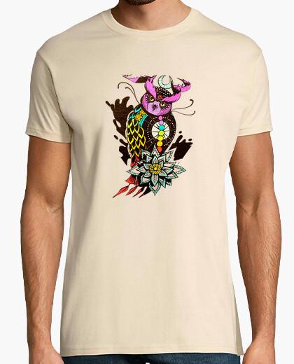 Camiseta cósmica hombre búho
