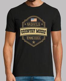 Camiseta Country Music Nashville Tennessee Rockabilly USA