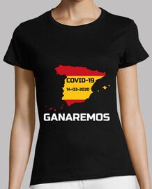 Camiseta COVID-19 España Ganaremos