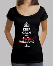 camiseta cuello ancho chica Keep Calm s/marco