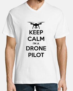 Camiseta cuello de pico Drone Pilot