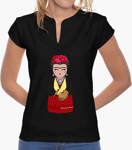 Camiseta cuello mao Kokeshi Frida Kahlo III