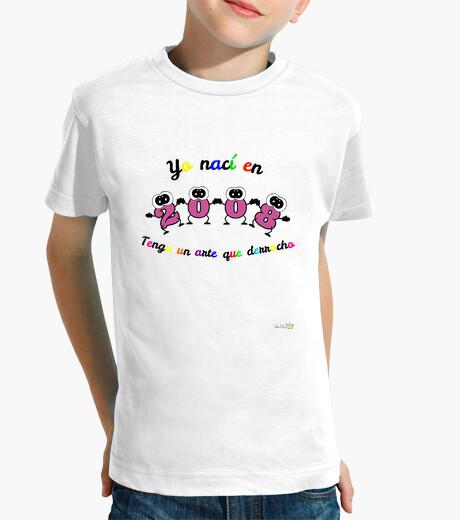 Ropa infantil Camiseta cumpleaños nacidos en 2008