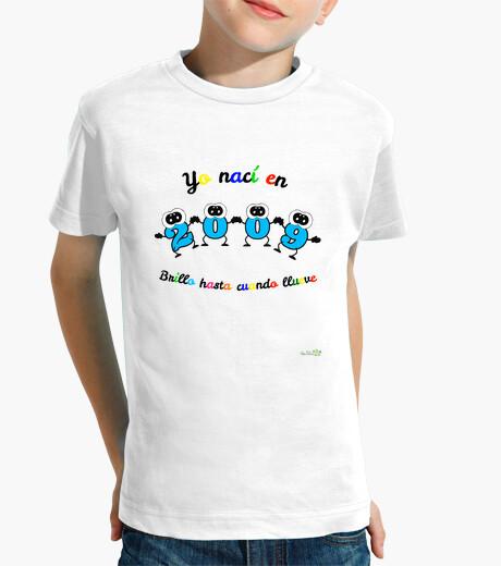 Ropa infantil Camiseta cumpleaños nacidos en 2009