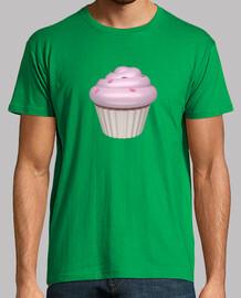 Camiseta cupcake de fresa