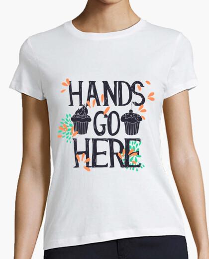 Camiseta Cupcakes Hands Go Here