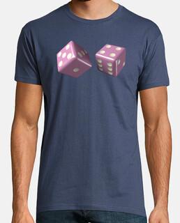 Camiseta dados rosas