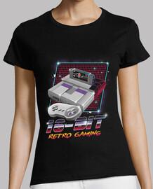 camiseta de 16 bits del juego retro para mujer