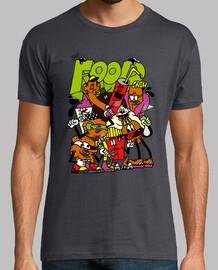 camiseta de alimentos