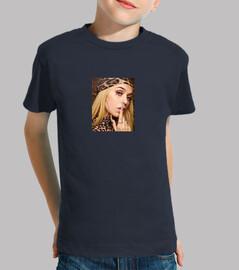 Camiseta de Bad Gyal Niño, manga corta