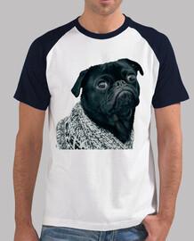Camiseta de béisbol con diseño de  Perro Pug Carlino con jersey
