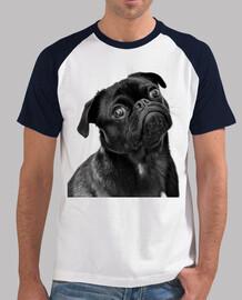 Camiseta de béisbol hombre diseño Perro Carlino Pug