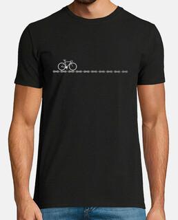 Camiseta de Ciclismo con bici y cadena