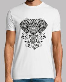 """Camiseta de elefante """"Be Strong"""", Yoga, relajacion, Reiki"""