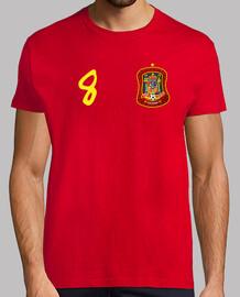 Camiseta de España con el nº 8