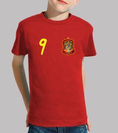 Camiseta de España con el número 9