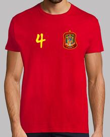 Camiseta de España con nº 4.