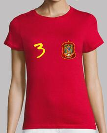 Camiseta de España con número 3.