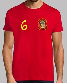 Camiseta de España nº 6