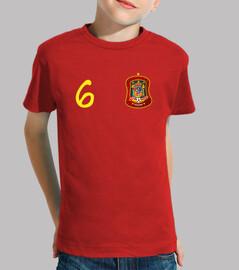 Camiseta de España número 6