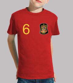 Camiseta de España personalizada (pecho)