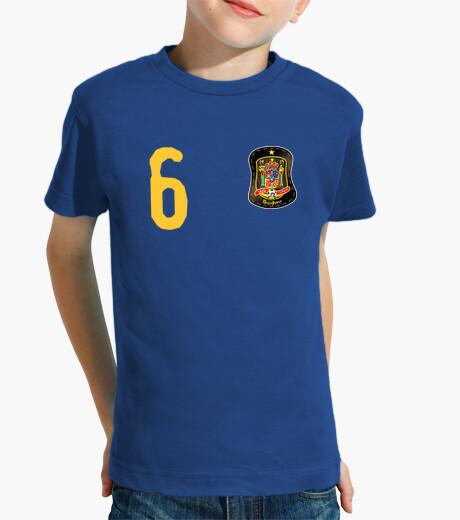 Ropa infantil Camiseta de España y escudo con costuras mágicas