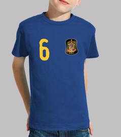 Camiseta de España y escudo con costuras mágicas