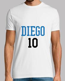 camiseta de fútbol - fútbol - diego 10