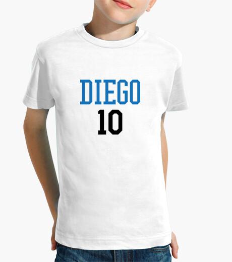 Ropa infantil camiseta de fútbol - fútbol - diego 10