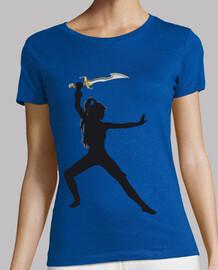 camiseta de Guerrera con espada