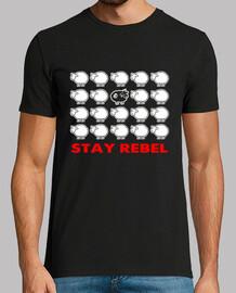camiseta de hombre - oveja negra rebelde