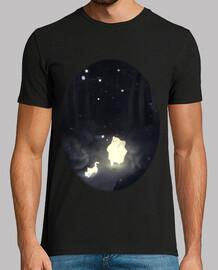 Camiseta de hombre bosque oscuro