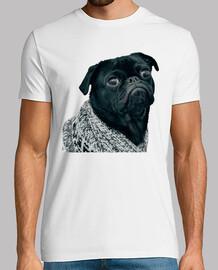 Camiseta de hombre con diseño de Perro Pug Carlino con jersey