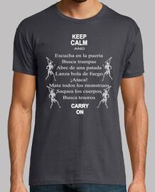 camiseta de Juego de Rol - Keep calm - B