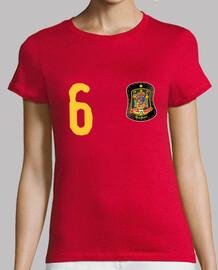 Camiseta de la selección española personalizable