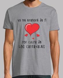 Camiseta de manga corta Yo me enamoré de ti