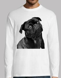 Camiseta de manga larga hombre diseño Perro Carlino Pug