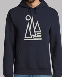 camiseta de montaña geométrica