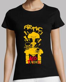 camiseta de mujer - asesinato en masa atómica.