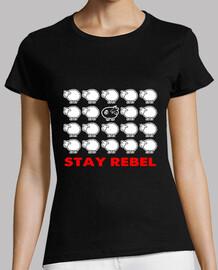 camiseta de mujer - oveja negra rebelde
