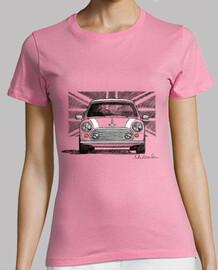 Camiseta de mujer con mi dibujo del Mini Cooper clásico