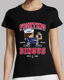 camiseta de mujer dingus combates